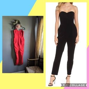 Red Adelyn Rae Strapless Jumpsuit